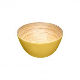 Saladier bambou jaune 17cm