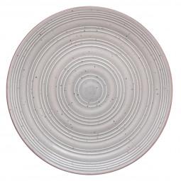 Assiette plate nature gris 28cm