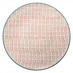 Assiette plate naples corail 27.5cm