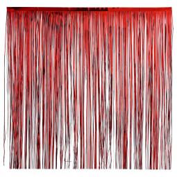 """Rideau à frange de noël rouge H3M """"colorama de noël"""""""