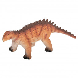 Figurine de dinosaure en plastique souple.