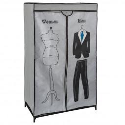 Penderie décor homme femme H 154 cm