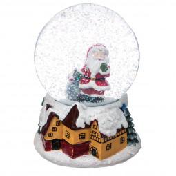 Décoration de Noël  Boule de neige Père noël D 10 cm American dream
