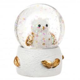 Décoration de Noël Boule de neige Animaux D 4.5 cm  A l'orée des bois