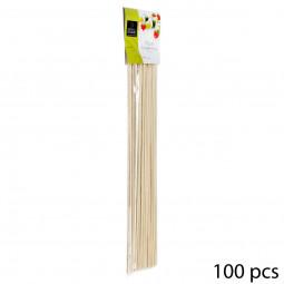 Lot de 100 piques à brochettes  bambou