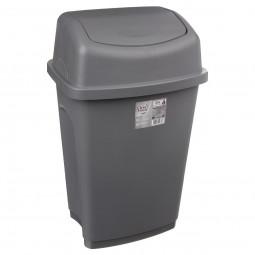 Poubelle grise 25 litres à couvercle basculant