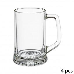 Lot de 4 verres à bière à anse 32cl