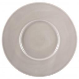 Assiette à dessert torsade grise D 25 cm