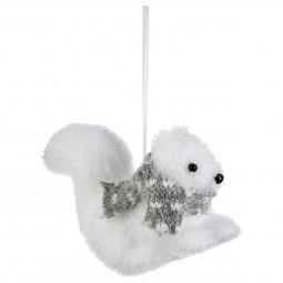 Décoration Sujet de Noël Animal avec son écharpe H 9 cm collection Lodge