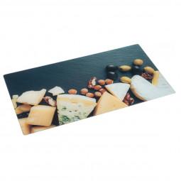 Planche à découper en verre 52x30 fromage
