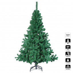 Sapin de Noël artificiel Vert 2 tons H 150 cm collection Elégant