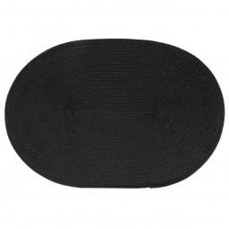 Set de table tressé ovale noir