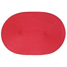 Set de table tressé ovale rouge