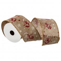 Rouleau Ruban Textile imprimé aspect jute 2,70 Mètres  Les incontournables