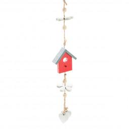 Décoration Suspension Sujet de Noël Maisons en Bois L 70 cm Comptoir de Noël