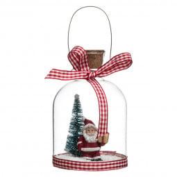 Décoration de sapin Sujet de Noël en verre avec deco intérieure D 7.5 cm Comptoir de Noël