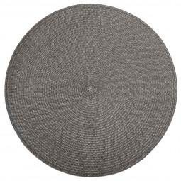Set de table tressé rond gris