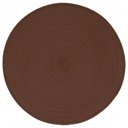 Set de table tressé rond chocolat D 38 cm