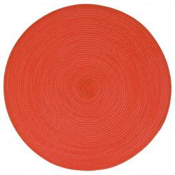 Set de table tressé rond rouge
