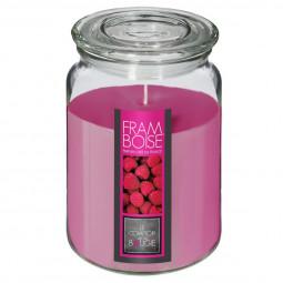 Bougie parfumée pot verre avec couvercle 510g