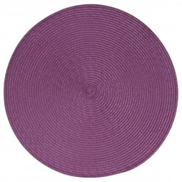 Set de table tressé rond violet