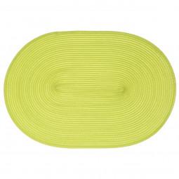 Set de table tressé ovale vert