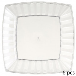 Lot de 6 assiettes jetables blanches 20 cm