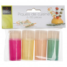 Lot de 4 pots de 100 cure-dents