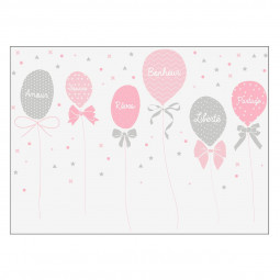 Sticker kids ballons filles 50x70 cm