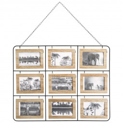 Pêle-mêle Nomade recto/verso 18 photos en bois 64x50