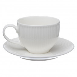 Ensemble tasse + soucoupe blanc 25 cl