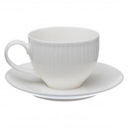 Ensemble tasse + soucoupe blanc 25cl