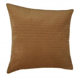 Coussin velours fall camel 60x60