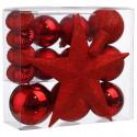 Décoration de sapin de Noël Kit de 18 pièces Boules et Cimier La maison des couleurs