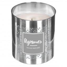 Bougie parfumée agrumes en pot métal 400g