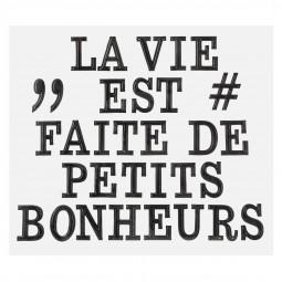 Sticker relief texte français