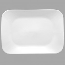 Assiette plate rectangulaire élégance 29x20