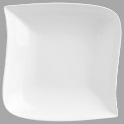 Assiette creuse carrée vague 21cm