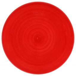 Assiette plate rouge D27,5