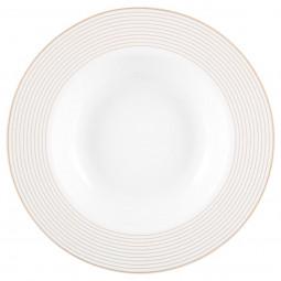 Assiette creuse filet or  D 21,5 cm