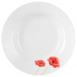 Assiette creuse coquelicot  D 20 cm