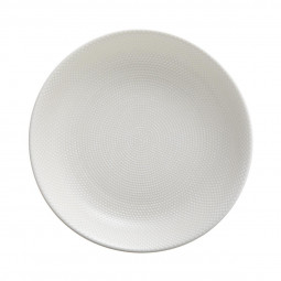 Assiette creuse caviar blanc 20cm