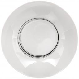 Assiette creuse soft grey 20cm