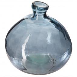 Vase rond verre recyclé orage D45
