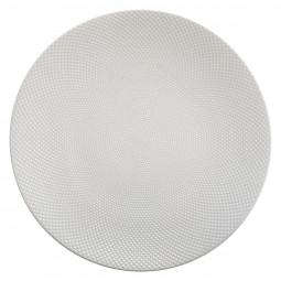 Assiette plate caviar blanche D 27 cm