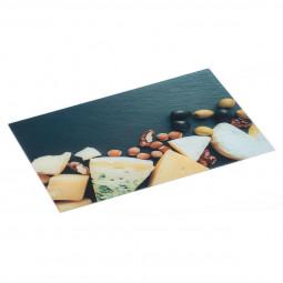 Planche à découper en verre 40x30 cm fromage