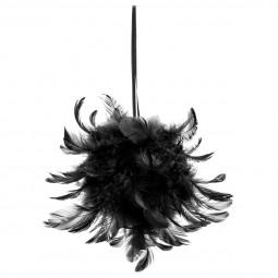 Décoration Sujet de Noël Boule de plumes D 15 cm collection Jungle africa