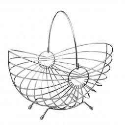 Corbeille en métal forme panier