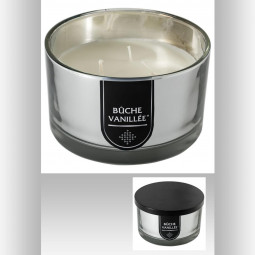 Bougie parfumée en pot métal argentée D13