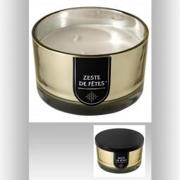 Bougie parfumée en pot métal or D13